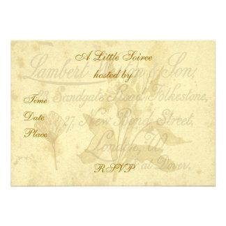 Invitación de la tarjeta de visita del vintage