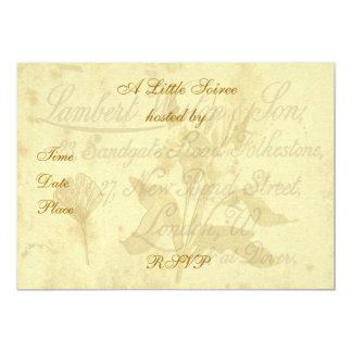 Invitación de la tarjeta de visita del vintage invitación 12,7 x 17,8 cm