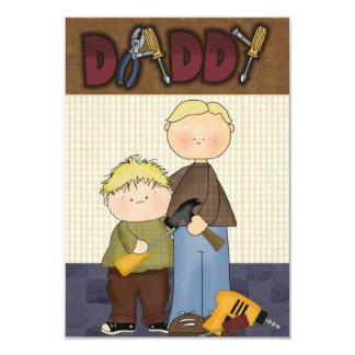 Invitación de la tarjeta del día del día, del papá invitación 8,9 x 12,7 cm