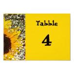 invitación de la tarjeta del número de la tabla invitación 8,9 x 12,7 cm