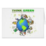 Invitación de la tarjeta: Piense el verde - plante