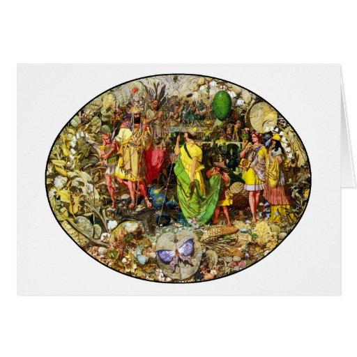 Invitación de la tarjeta: Pintura de hadas de Tarjeta De Felicitación