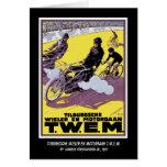 Invitación de la tarjeta: Raza de la moto y de