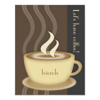 Invitación de la taza de café pequeña