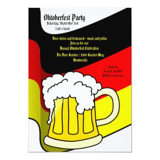 Invitación de la taza de cerveza de Oktoberfest