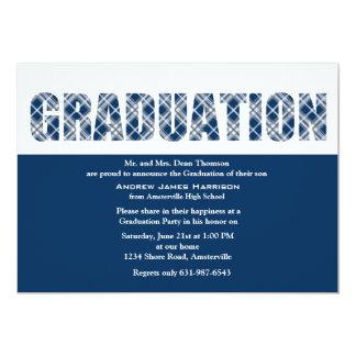 Invitación de la tela escocesa de la graduación