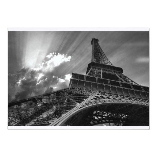 Invitación de la torre Eiffel