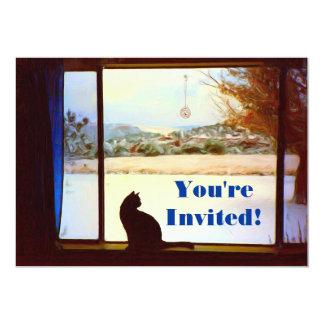 Invitación de la ventana del invierno de Tosca