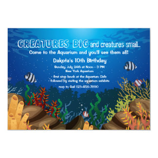 Invitación de la vida marina invitación 12,7 x 17,8 cm