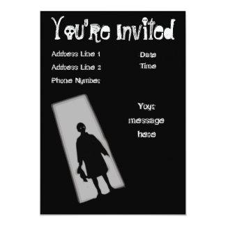 Invitación de la zona crepuscular del fiesta de
