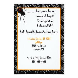 Invitación de las arañas de Halloween