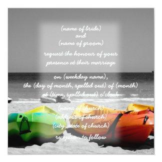 invitación de las canoas invitación 13,3 cm x 13,3cm