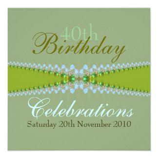 Invitación de las celebraciones del cumpleaños