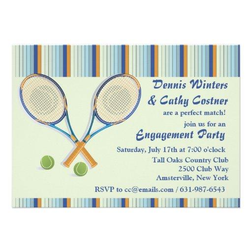 Invitación de las estafas de tenis