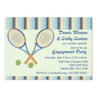 Invitación de las estafas de tenis invitación 12,7 x 17,8 cm