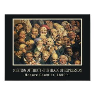 Invitación de las expresiones de Daumier