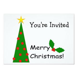 Invitación de las Felices Navidad