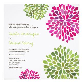 Invitación de las floraciones de la flor de las
