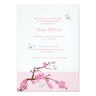 Invitación de las flores de cerezo y de las