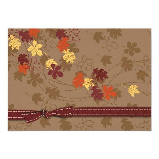 Invitación de las hojas de otoño