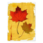 Invitación de las hojas de otoño invitación 12,7 x 17,8 cm