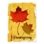 Invitación de las hojas de otoño de la acción de invitación 12,7 x 17,8 cm