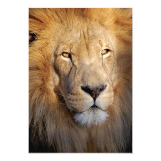 Invitación de las imágenes del león