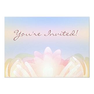 Invitación de las manos de Lotus