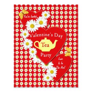Invitación de las margaritas de la fiesta del té