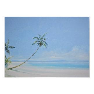 Invitación de las palmeras invitación 12,7 x 17,8 cm