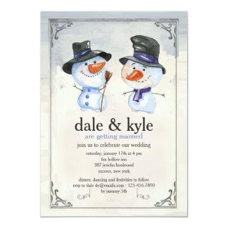 Invitación de las personas del muñeco de nieve
