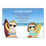 Invitación de las personas que practica surf de la