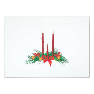 Invitación de las velas del navidad