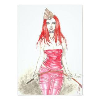 Invitación de levantamiento roja de Phoenix Invitación 12,7 X 17,8 Cm