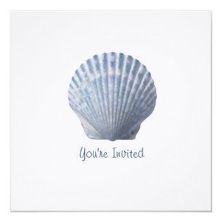 Invitación de lino de Shell Invitación 13,3 Cm X 13,3cm
