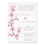 invitación de lino del boda de la flor de cerezo