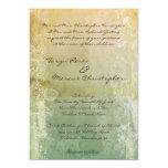 invitación de lino floral del boda del vintage 5x7