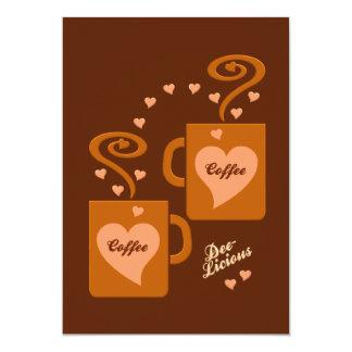 Invitación de los amantes del café, personalizar