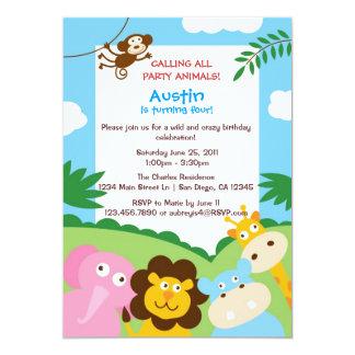 Invitación de los animales de la selva
