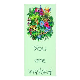 Invitación de los animales salvajes y de las plant