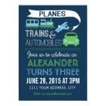 Invitación de los aviones, de los trenes y de los