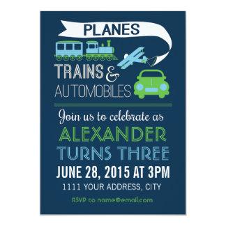 Invitación de los aviones, de los trenes y de los invitación 12,7 x 17,8 cm
