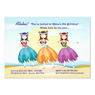 Invitación de los bailarines de Hula