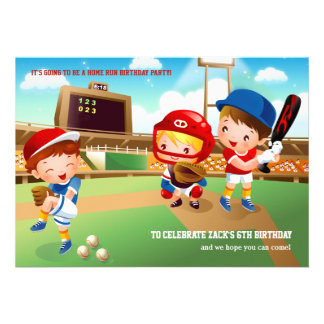 Invitación de los bebés del béisbol