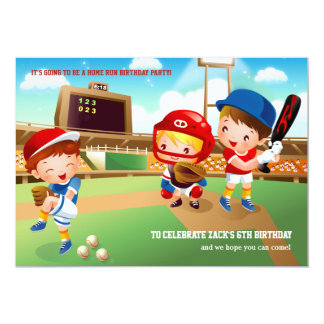 Invitación de los bebés del béisbol invitación 12,7 x 17,8 cm