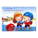 Invitación de los bebés del hockey sobre hielo invitación 12,7 x 17,8 cm