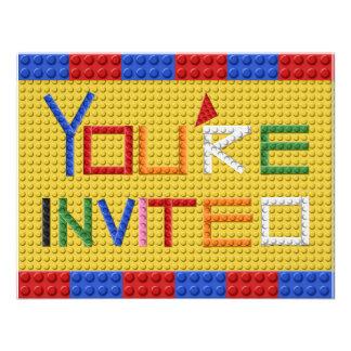 Invitación de los bloques huecos en colores primar
