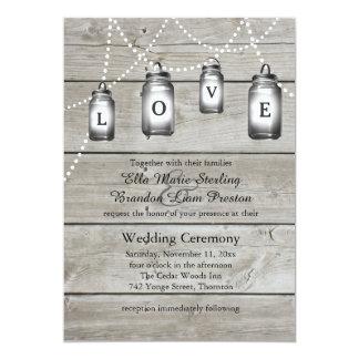Invitación de los bodas del granero del amor invitación 12,7 x 17,8 cm