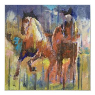 Invitación de los caballos de raza