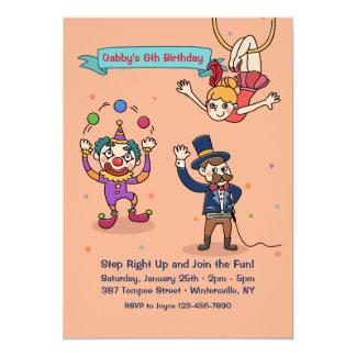 Invitación de los caracteres del circo
